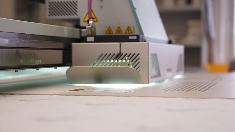 Direktdruck UV System in Arbeit
