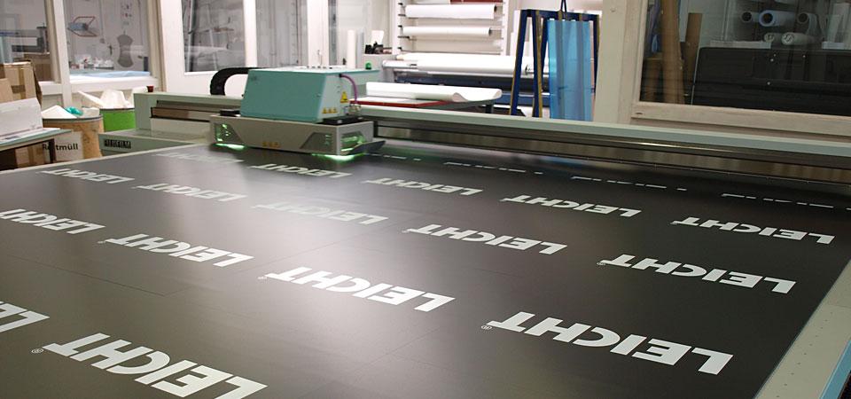 UV Druck auf feste Materielien